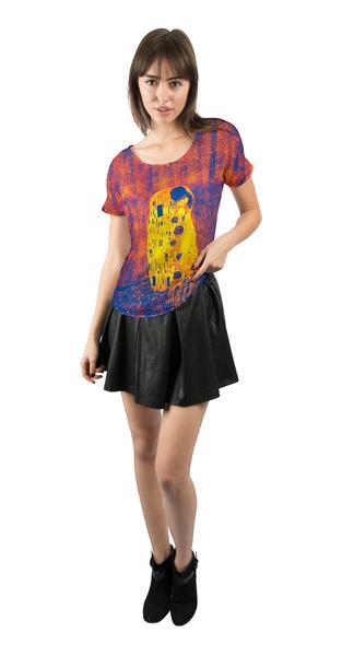 "Pop Art Klimt - ""The Kiss Blue And Yellow"" womens chiffon"