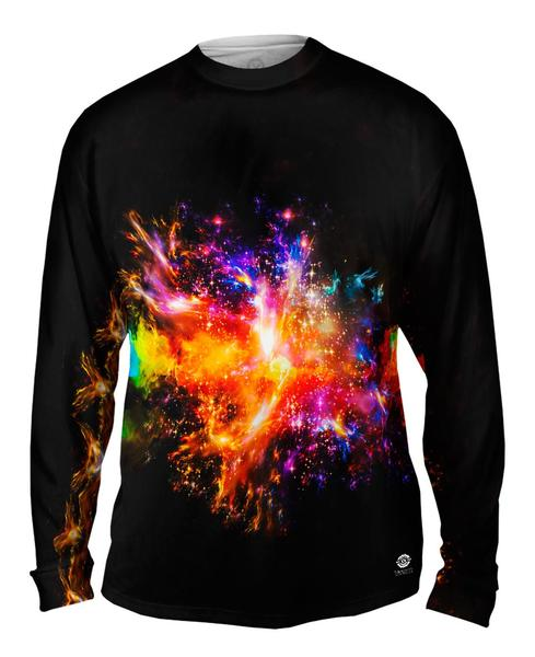 Space Burst Mens Long Sleeve