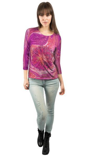 Hippie Dippie Crazy Paint Womens 3/4 Sleeve