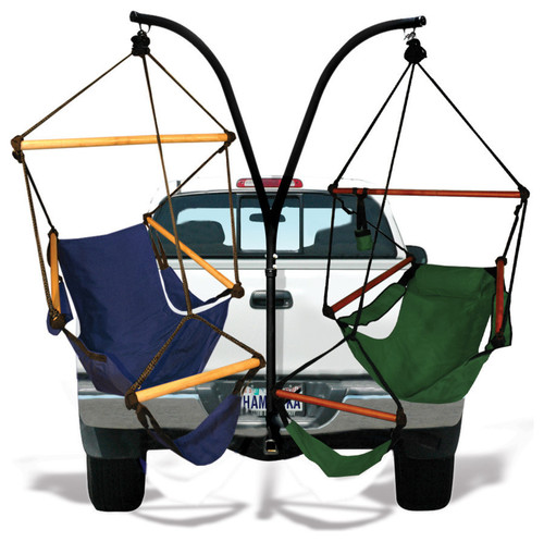 Hammaka Trailer Hitch Stand and Midnight Blue Cradle Chairs Combo