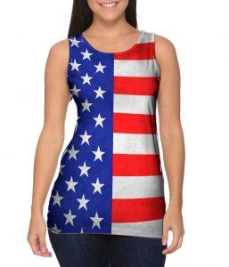 American Flag Womens Tank