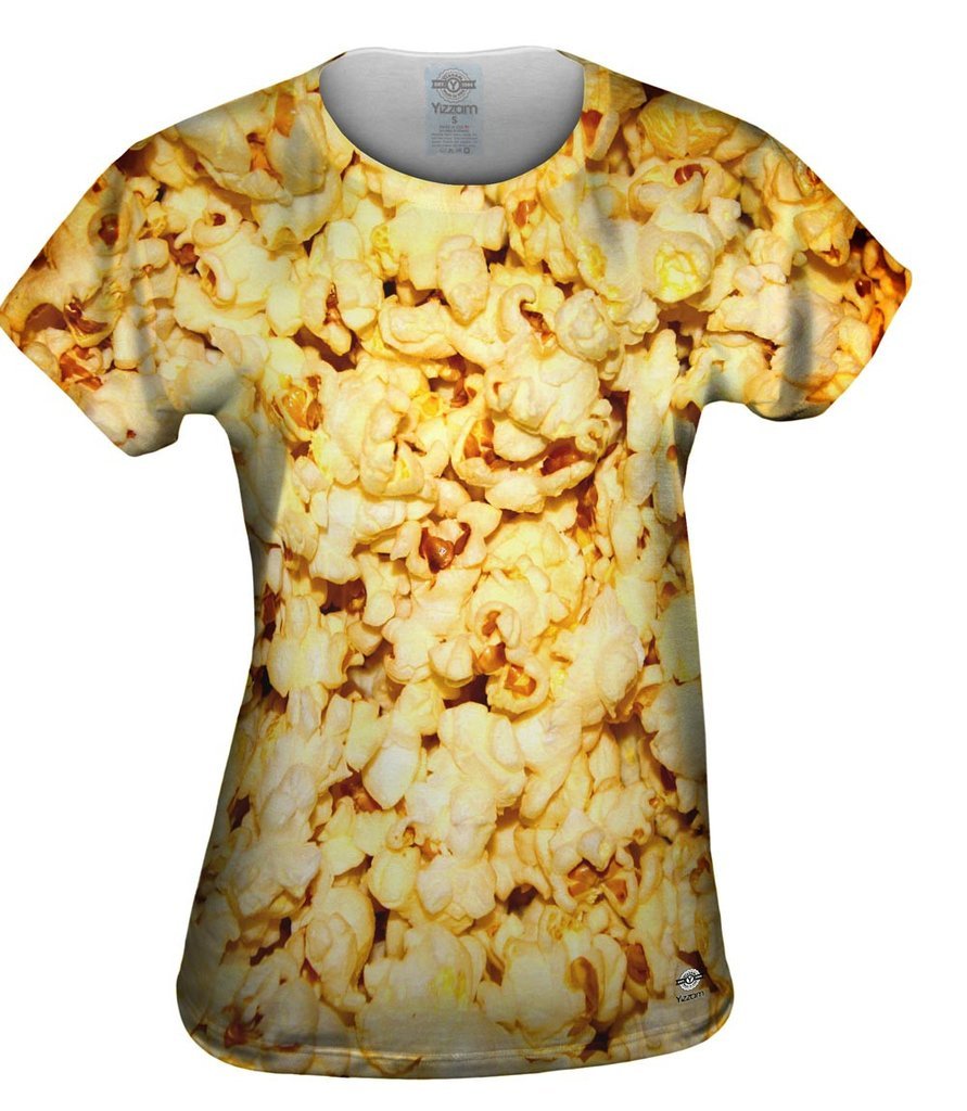 Extra Butter Popcorn Womens T-shirt