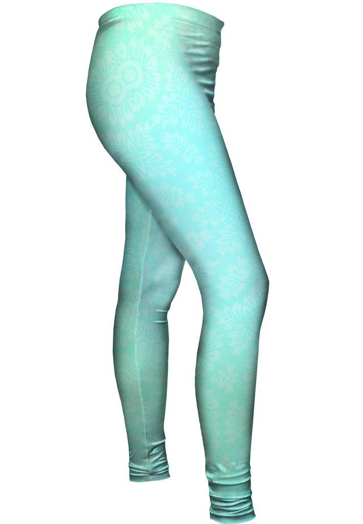 Floral Goddess Turquoise Leggings