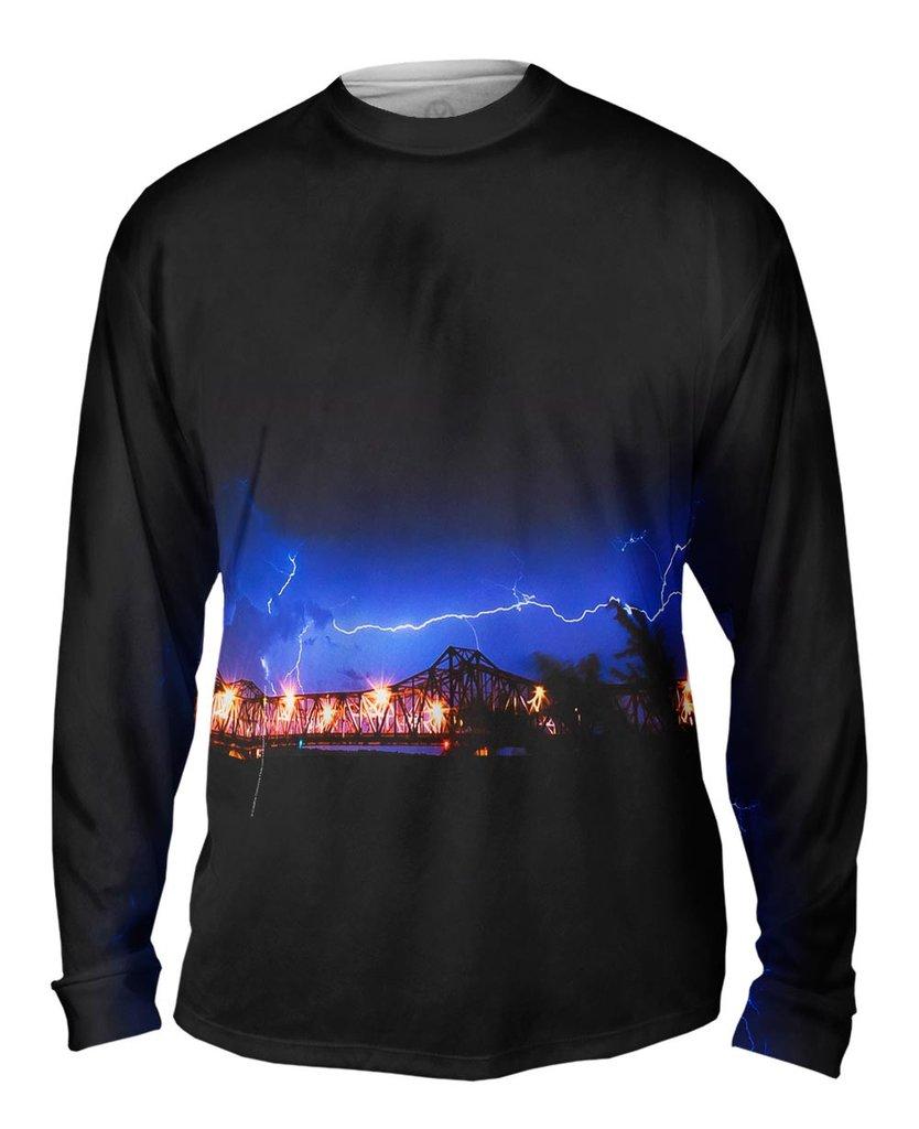 Lightning Crashes Mens Long Sleeve Sweatshirt