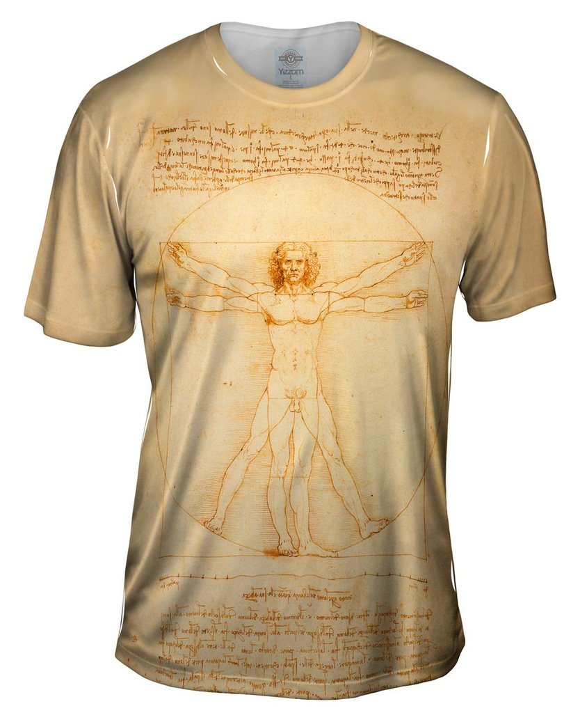 Vitruvian Man Mens T-shirt