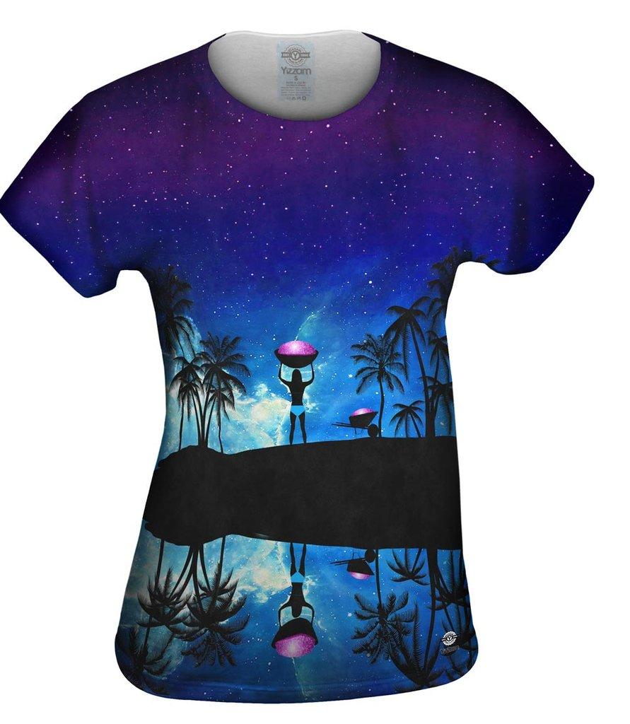Beach Galaxy Womens T-shirt