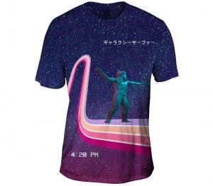 Intergalactic Galaxy Surfer Mens T-Shirt