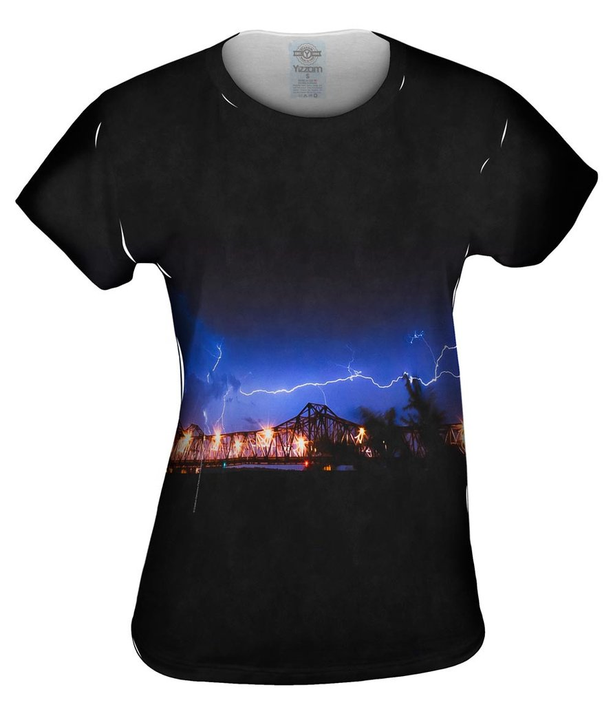 Lightning Crashes Womens T-Shirt