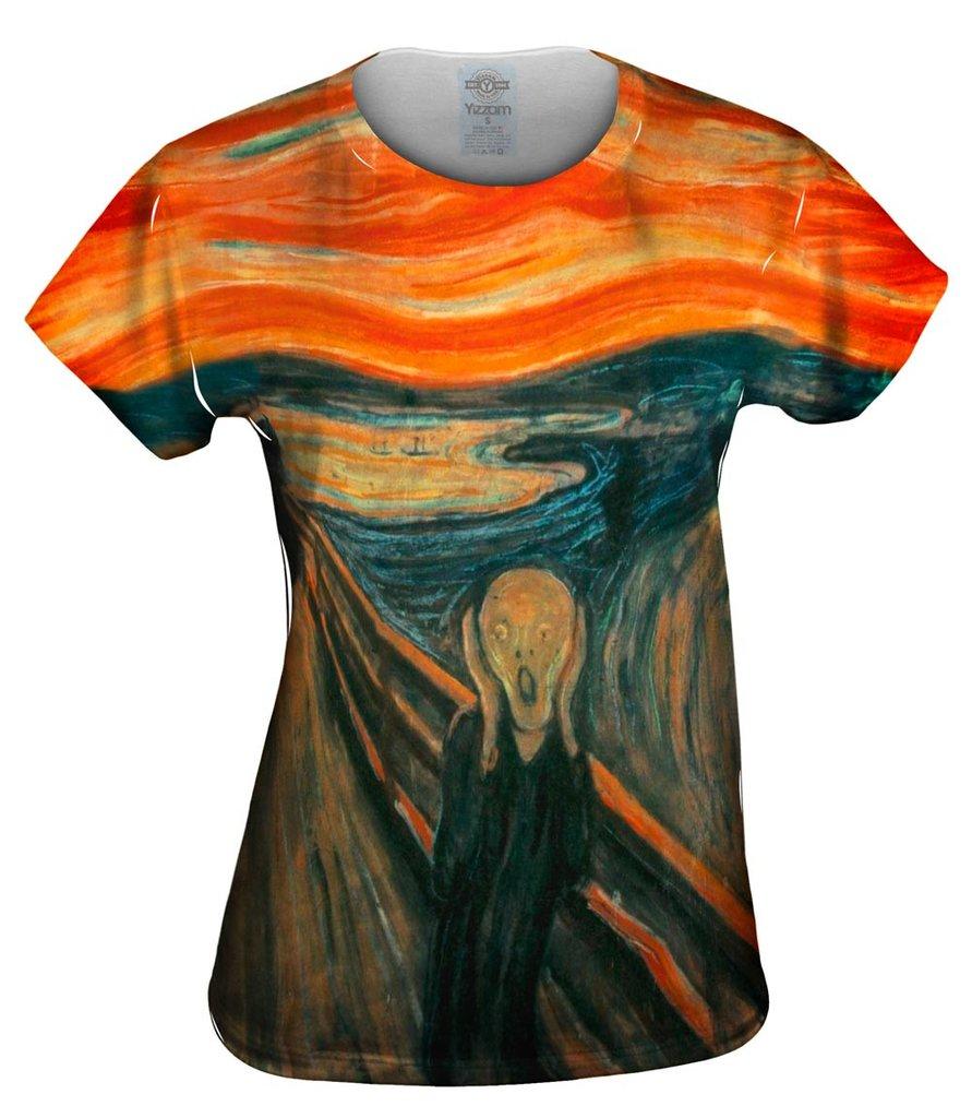Munch Scream Womens T-Shirt