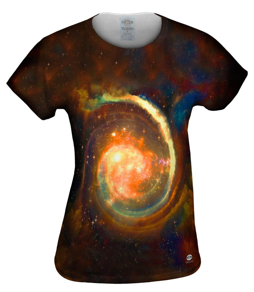 Space Galaxy Virtual Ring Nebula Womens T-Shirt