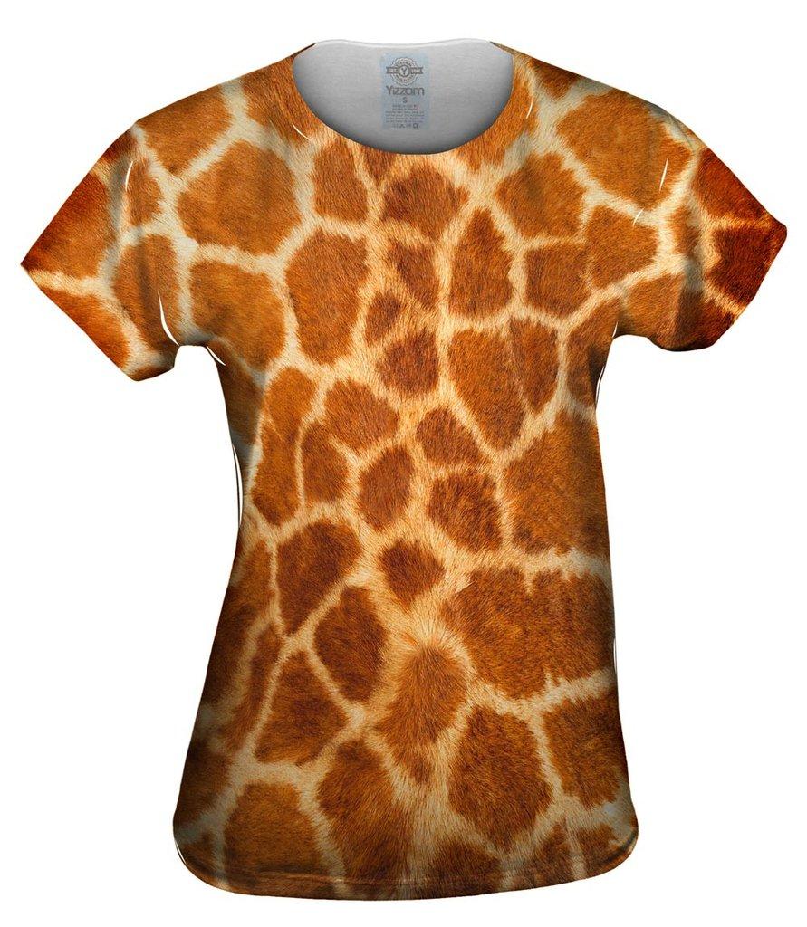 Giraffe Skin Womens Tshirt