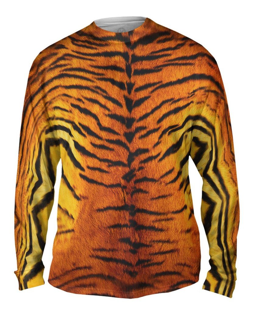 Tiger Skin Mens Long Sleeve Shirt