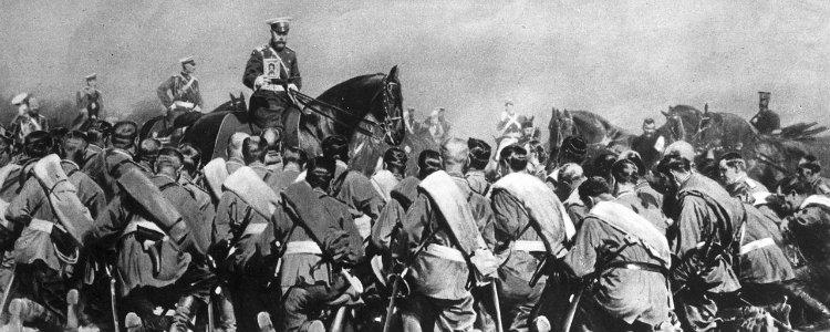Tzar Nicholas Among Troops