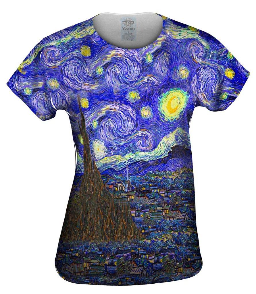 Van Gogh Starry Night Womens Tshirt
