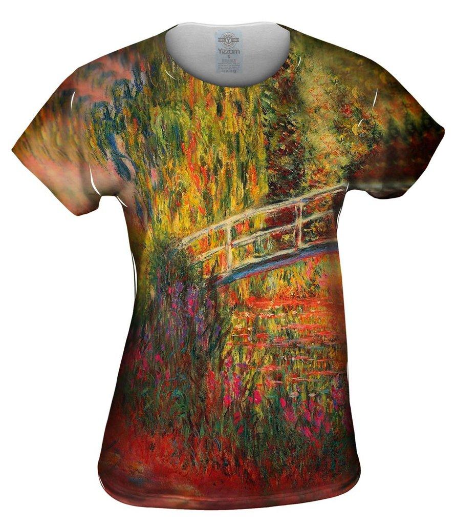 Monet Water Lily Pond Womens Tshirt