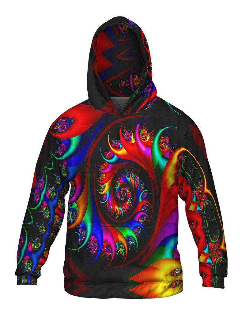 Trippy Rainbow Spirals Mens Hoodie