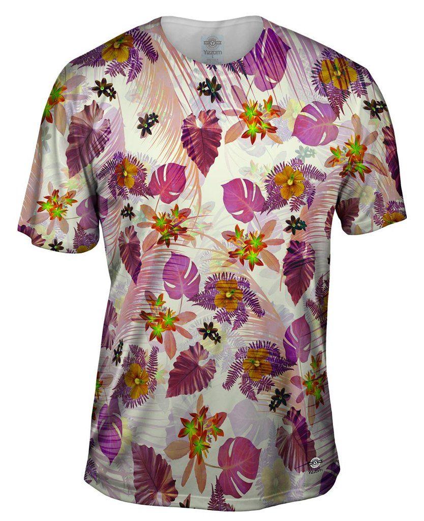 Aloha Pink Flowers Pink Womens Tshirt