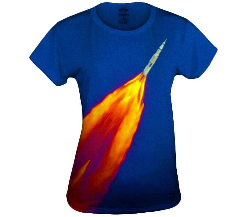 Rocket Trails Womens Tshirt