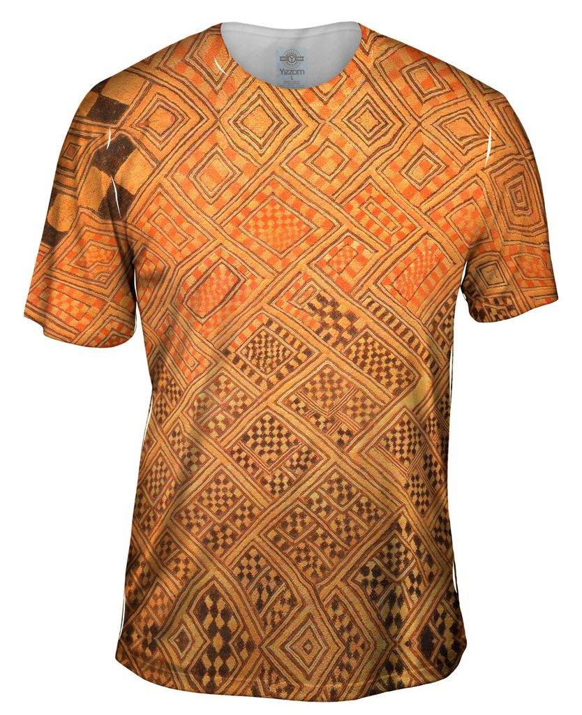 African Tribal Kuba Cloth Marriage Quilt Mens Tshirt