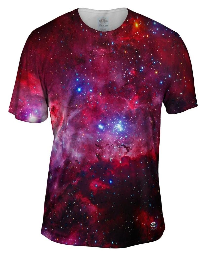 Great Carina Nebula Pink Space Galaxy Mens T-Shirt