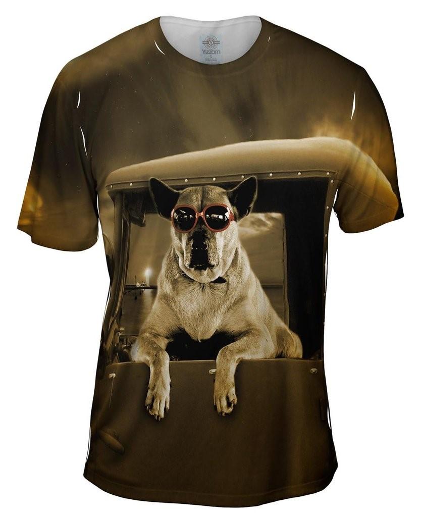 Pick-Up Truck Dog Mens T-Shirt