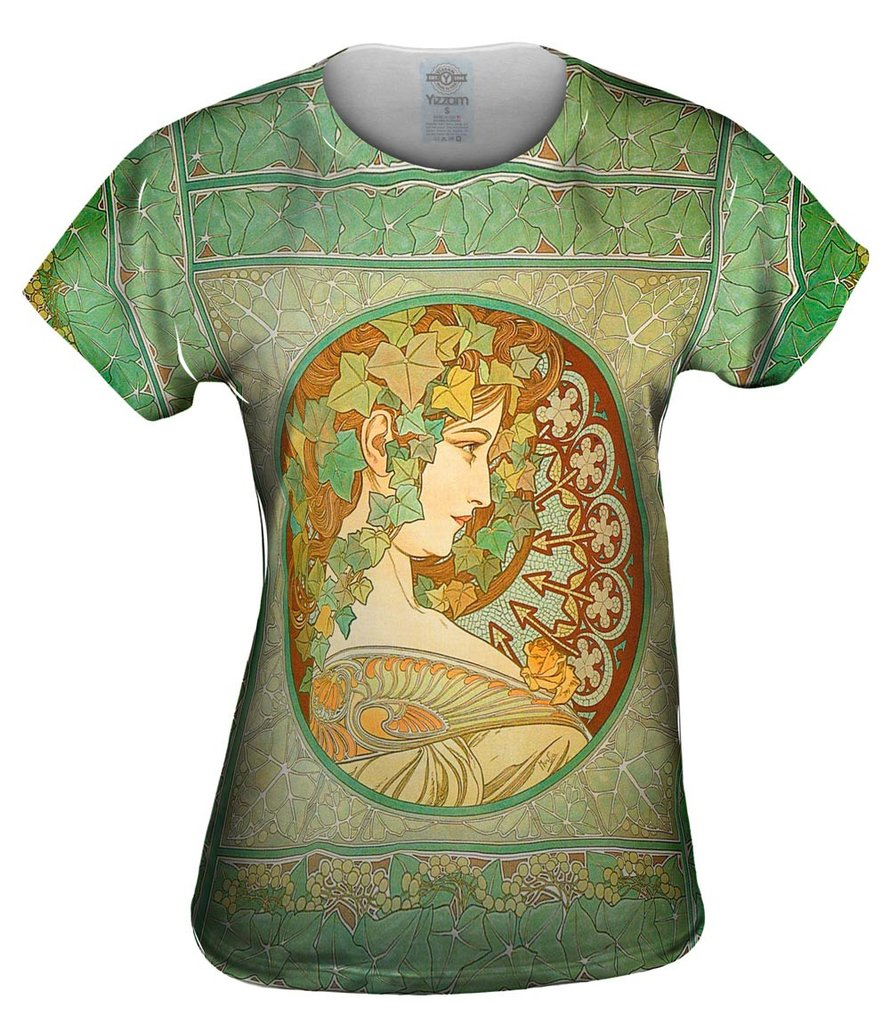 Alphonse Mucha Laurel Top
