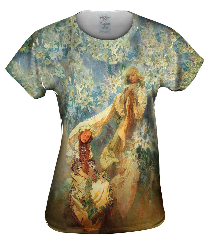 Alphonse Mucha Madonna Of The Lilies Top