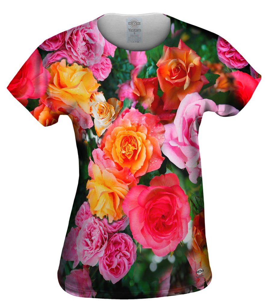 Bright Day Rose Bouquet Womens Tshirt