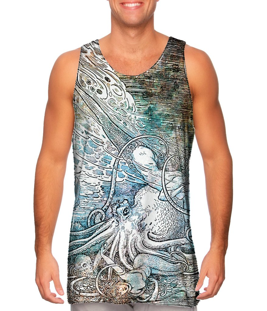 Louis Rhead Mermaid Octopus Mens Tank