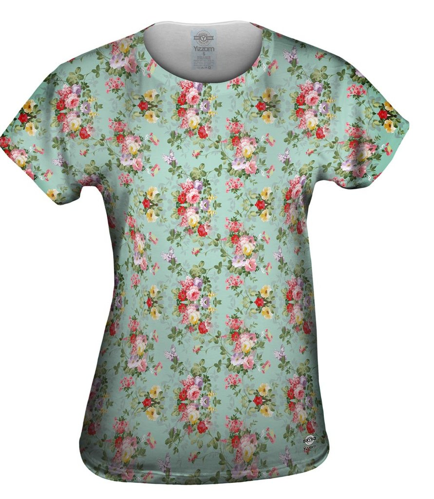 Summer Flowers Pattern Womens Top