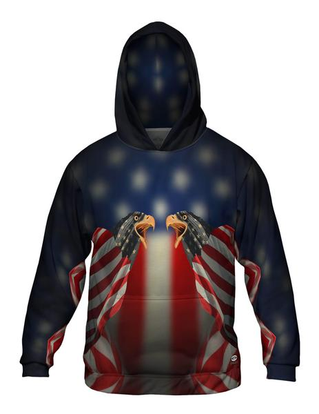 Flag Eagles Men's Hoodie