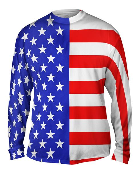 American Flag Mens Long Sleeve