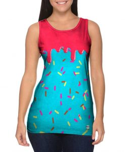 I See Ice Cream Sprinkles womens tank front