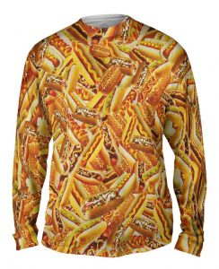 Hot Dog Feast mens long sleeve front