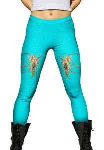 Lobster womens leggings front