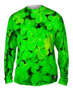 four leaf clover mens t-shirt