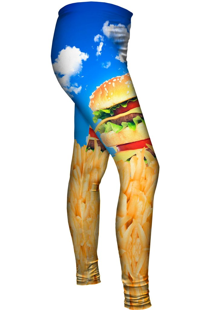Burger and Fries Womens Leggings