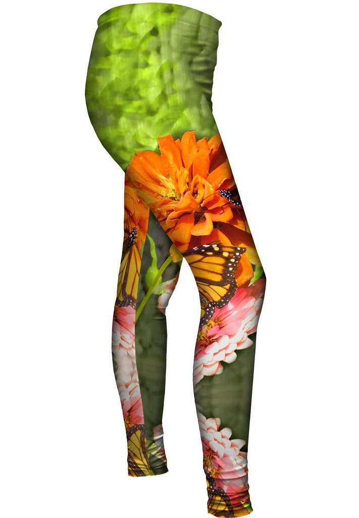 Flowers and Butterflies Womens Leggings