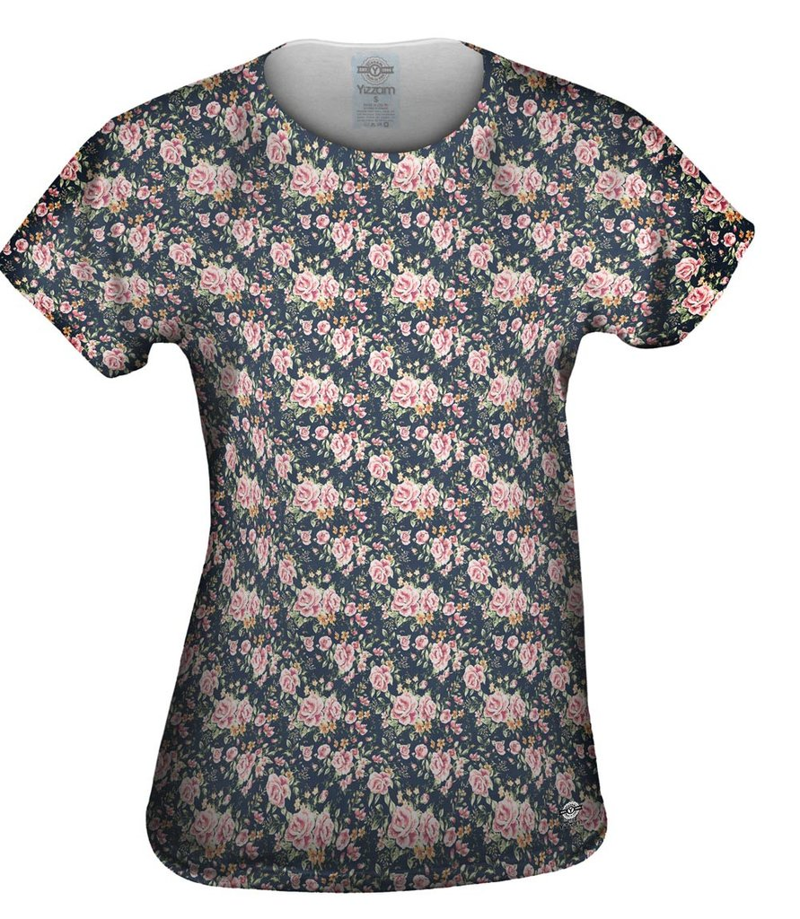 Hipster Flowers Womens T-shirt