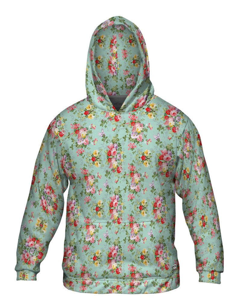 Summer Flowers Pattern Mens Hoodie