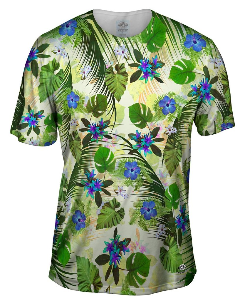Aloha_Blue_Flowers Mens T-shirt