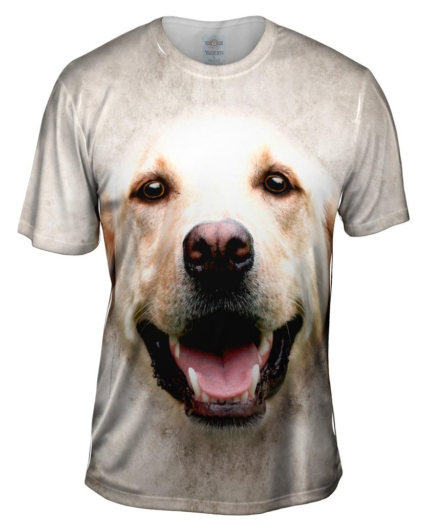 Happy Golden Labrador Mens T-shirt