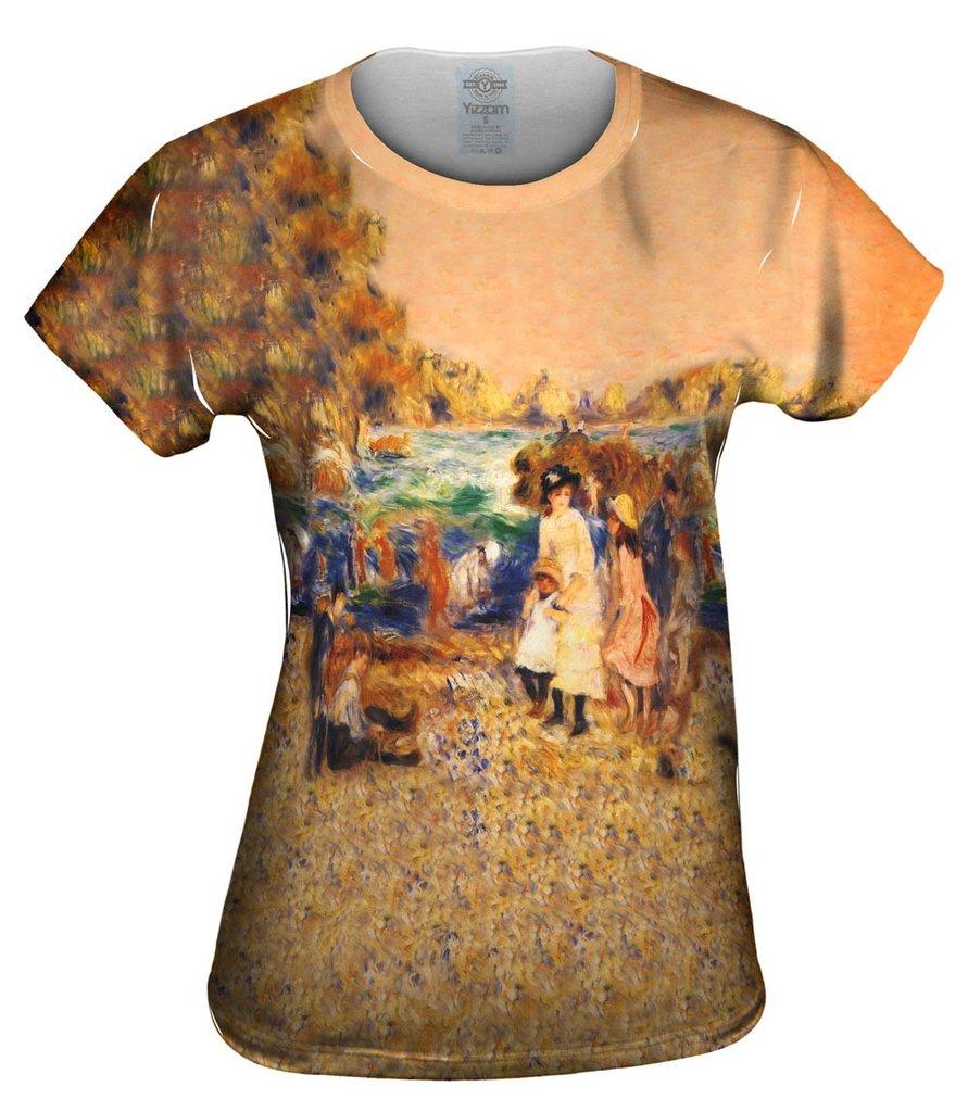 Pierre-Auguste-Renoir_Beach-Scene_1883 Womens T-shirt