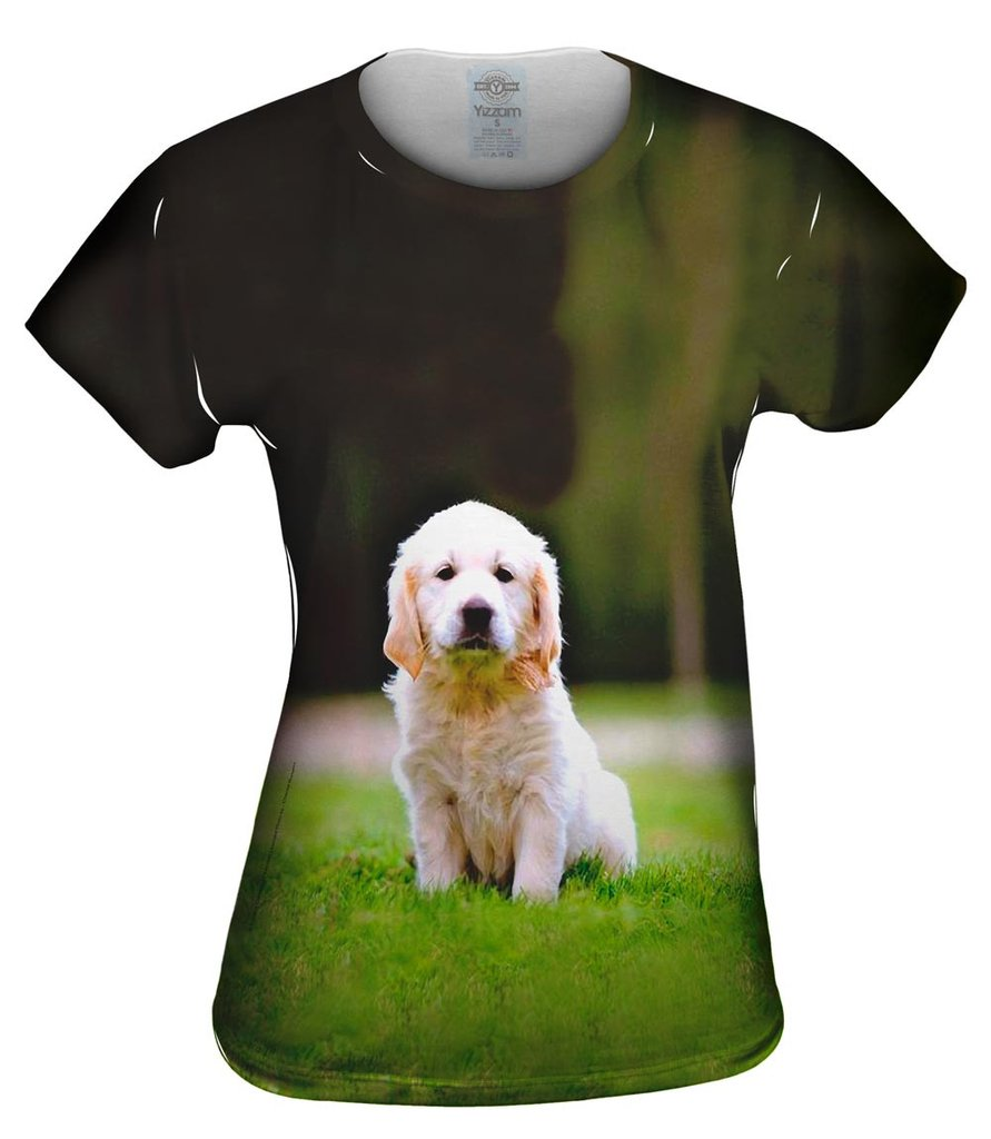 Tiny Puppy Retriever Womens T-Shirt