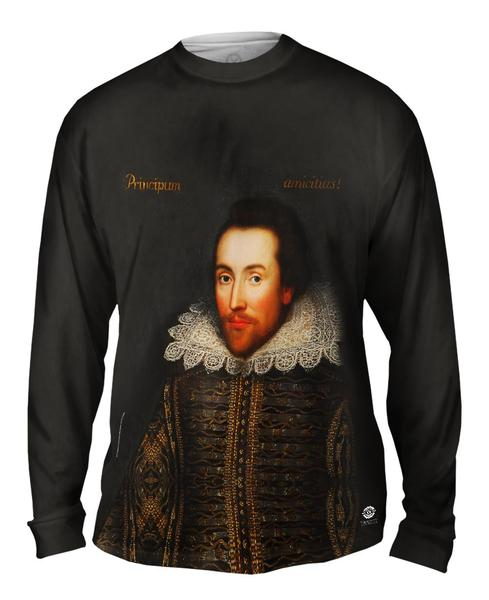Cobbe Portrait Of William Shakespeare Mens Long Sleeve T-shirt
