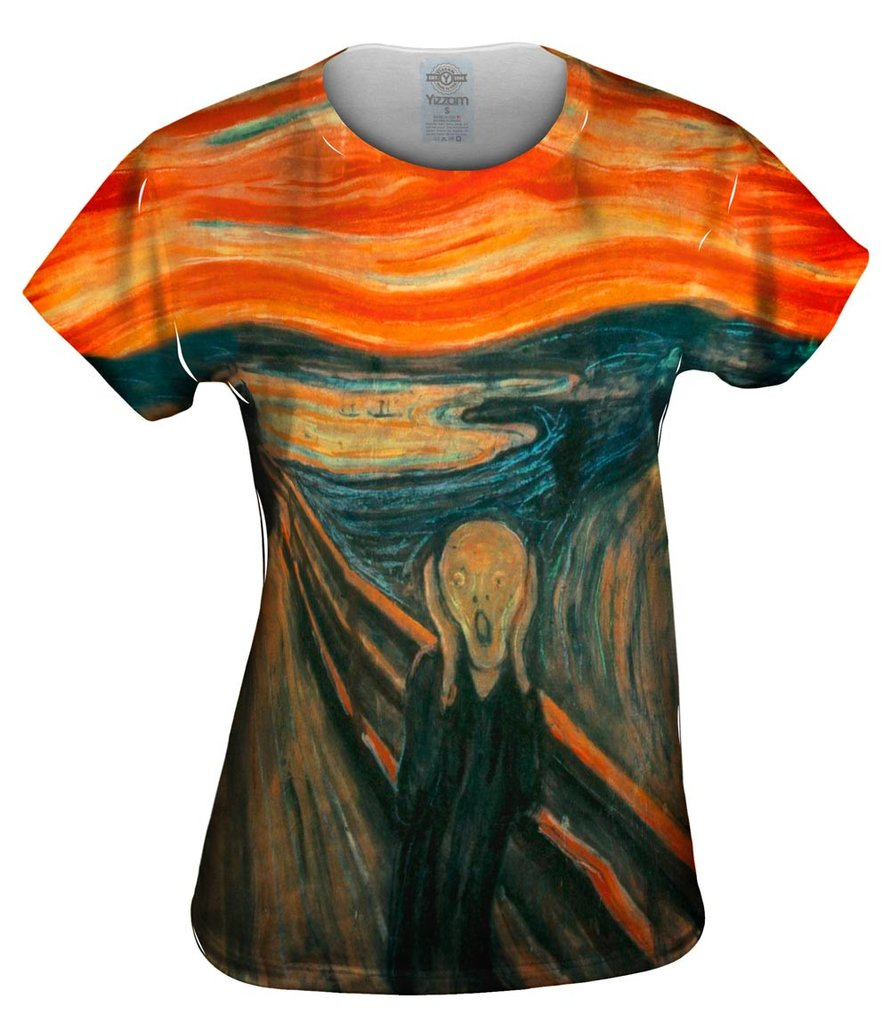 Munch Scream Womens T-Shirt