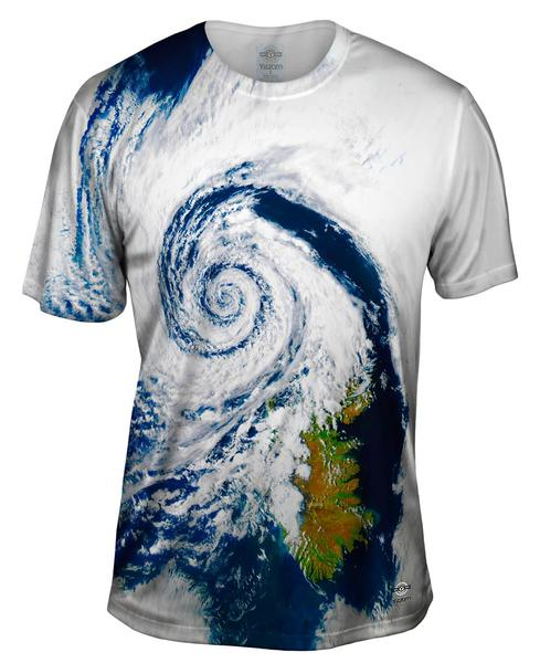 Weather Hurricane Iceland Mens T-Shirt