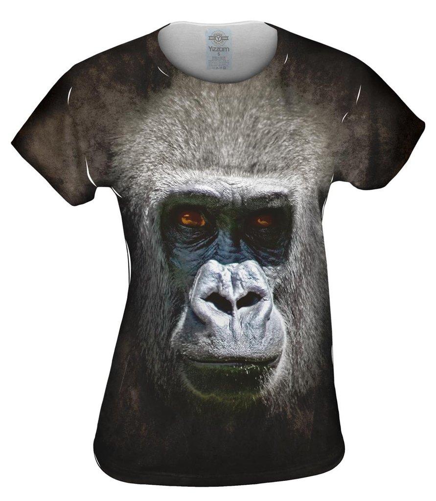 Gorilla Face Womens Tshirt