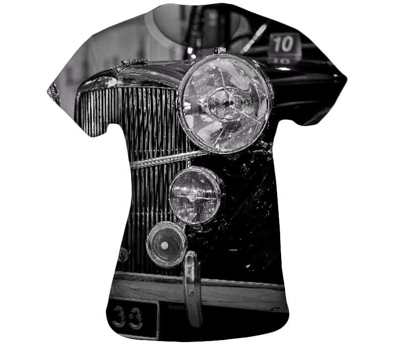 Motorcar In Black Womens Top