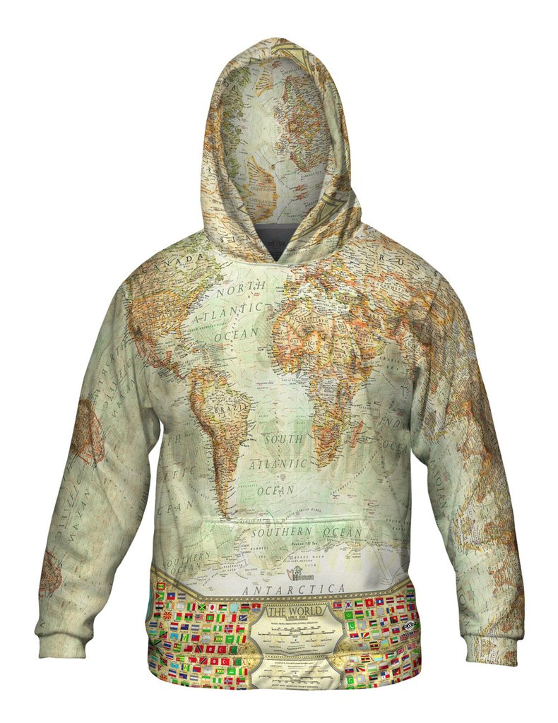 Ash World Map Mens Sweatshirt